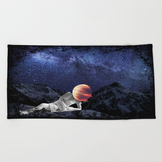 The Universe Girl Beach Towel