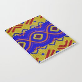 Ethnic African Knitted style design Notebook