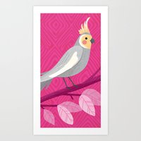 Bright Bird Portrait Art Print