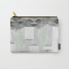 Dusty Triangle columns Carry-All Pouch