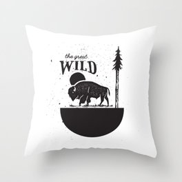 The Great Wild Throw Pillow