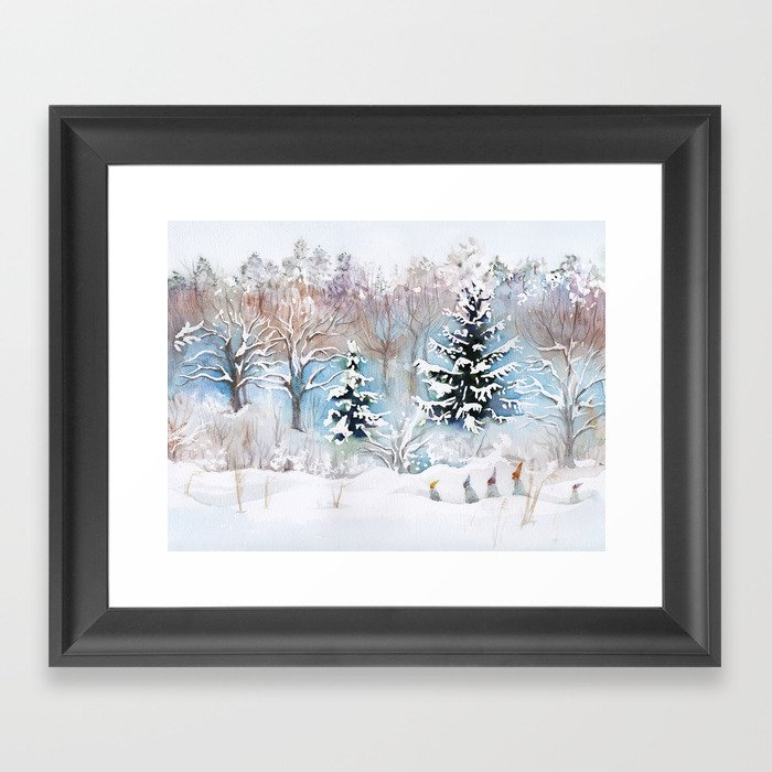 Tiny Elves Gerahmter Kunstdruck