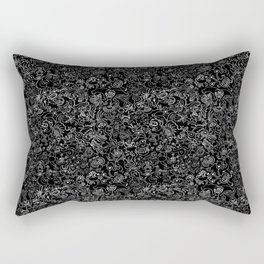 Crazy monsters in a crowd pattern Rectangular Pillow