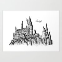 hogwarts Art Prints featuring HOGWARTS by Danielle Ebro