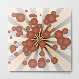 Chocolate balls Metal Print