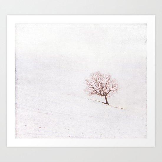 Lone Tree {Textured}  Art Print