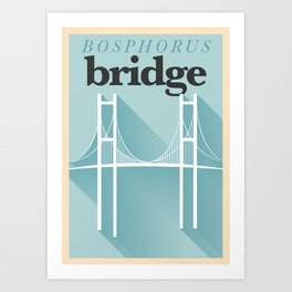 Minimal Bosphorus Bridge Poster Art Print