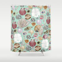 shells Shower Curtains featuring Shells by Krystal Smith