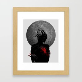 The Heart Hurts. Framed Art Print