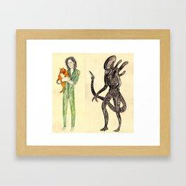 \ALIEN/ Framed Art Print