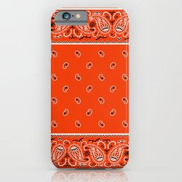 Classic Orange Bandana iPhone Case