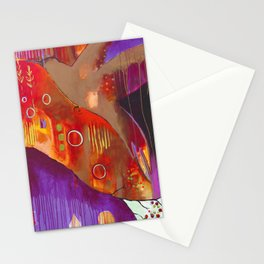 """""""Reflect You"""" Original Painting by Flora Bowley Stationery Cards"""