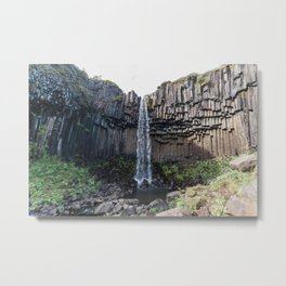 Svartifoss  waterfall in Iceland - nature landscape Metal Print