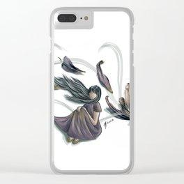 Windy petals Clear iPhone Case