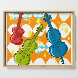 Sunny Grappelli String Jazz Trio Composition Serving Tray