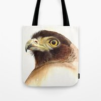 eagle Tote Bags featuring eagle by Alessandra Razzi Illustrazioni