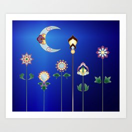 Turkish Garden Art Print
