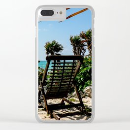 Tulum Chairs Clear iPhone Case