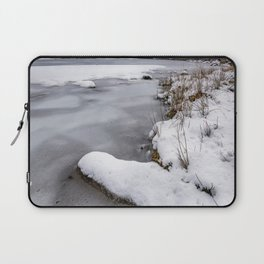 Snowfall at Ogwen Lake Snowdonia Laptop Sleeve