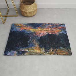 The Domain of Arnheim (colorful sunset on the water) portrait painting by Jeams Ensor Rug
