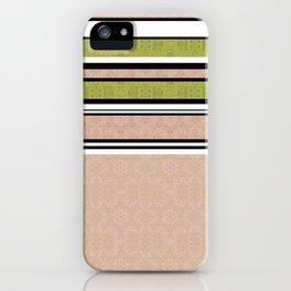 Multi-colored striped iPhone Case
