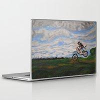 moto Laptop & iPad Skins featuring Moto Jump  by Chloe Metcalfe