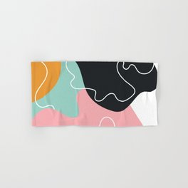 Abstract Seamless Graphic Modern Pattern Beautiful Colorful Background Hand & Bath Towel