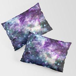 Tarantual Nebula Purple TEal Pillow Sham