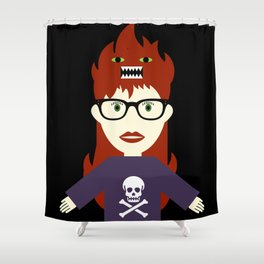 Monster On My Head Shower Curtain