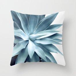 Bursting into life - teal Throw Pillow
