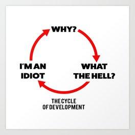 Cycle of development Art Print