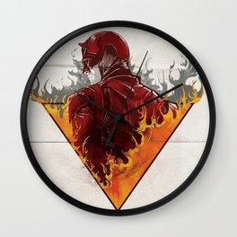 A World on Fire Wall Clock