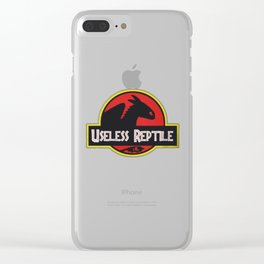 Toothless Useless Reptile Clear iPhone Case