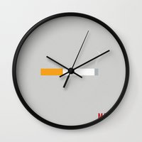 mad men Wall Clocks featuring Mad Men - Minimalist by Marisa Passos