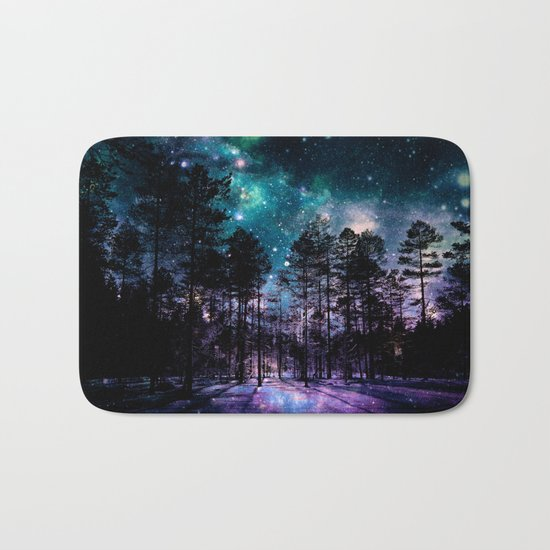 One Magical Night... (teal & purple) Bath Mat