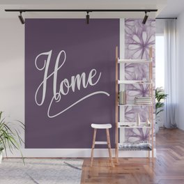 Home Lavender Daisy Flowers Wall Mural