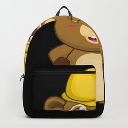 Beaver Construction Worker Architect Backpack