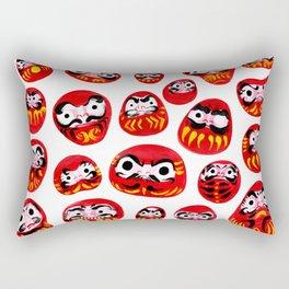 Japanese Daruma Characters Rectangular Pillow