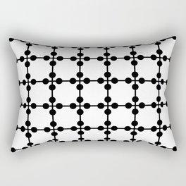 Droplets Pattern - White & Black Rectangular Pillow