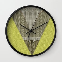 Light green and gray abstract Design Wall Clock