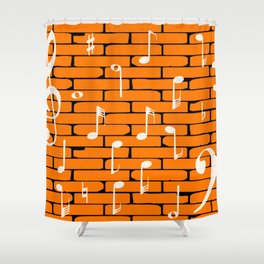 Music Wall Background Shower Curtain