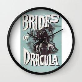 Brides of Dracula, vintage horror movie poster Wall Clock