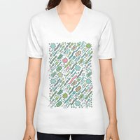 biology V-neck T-shirts featuring Microbes by Anna Alekseeva kostolom3000