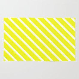 Lemon Curd Diagonal Stripes Rug