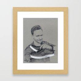 Tom Hiddleston: Small Steps Framed Art Print