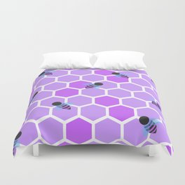 Oh Honey in Purple Duvet Cover