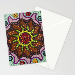 Inner Light Mandala - מנדלה אור פנימי Stationery Cards