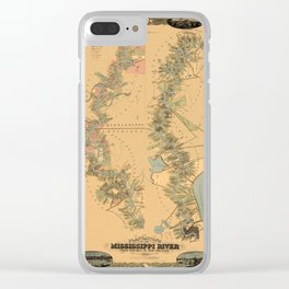 Map of Mississippi River 1858 Clear iPhone Case