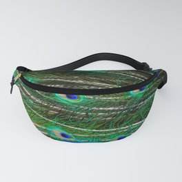 Peacock Feathered Fanny Pack