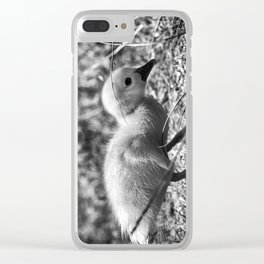 Yellow Duckling - Black & White Clear iPhone Case